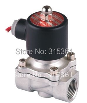 Free Shipping 5PCS 3/4 Normally Closed 20mm Water Stainless Solenoid Valve 2 Way FKM Oil Acid Voltage AC220V 3 8 stainless steel water electric solenoid valve 2 way normally closed fkm 2s160 10 dc12v dc24v ac110v ac220v