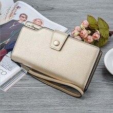 New lady's Long Wallet with large capacity buckle handbag with Japan and South Korea zipper handbag vogue female Wallet цена 2017