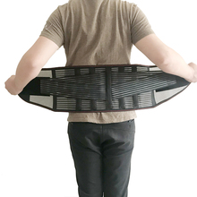 XXL النساء الرجال مطاطا مشد الظهر قطني هدفين حزام داعم الخصر العظام مصحح الوضعية منخفضة الظهر حزام الخصر دعم