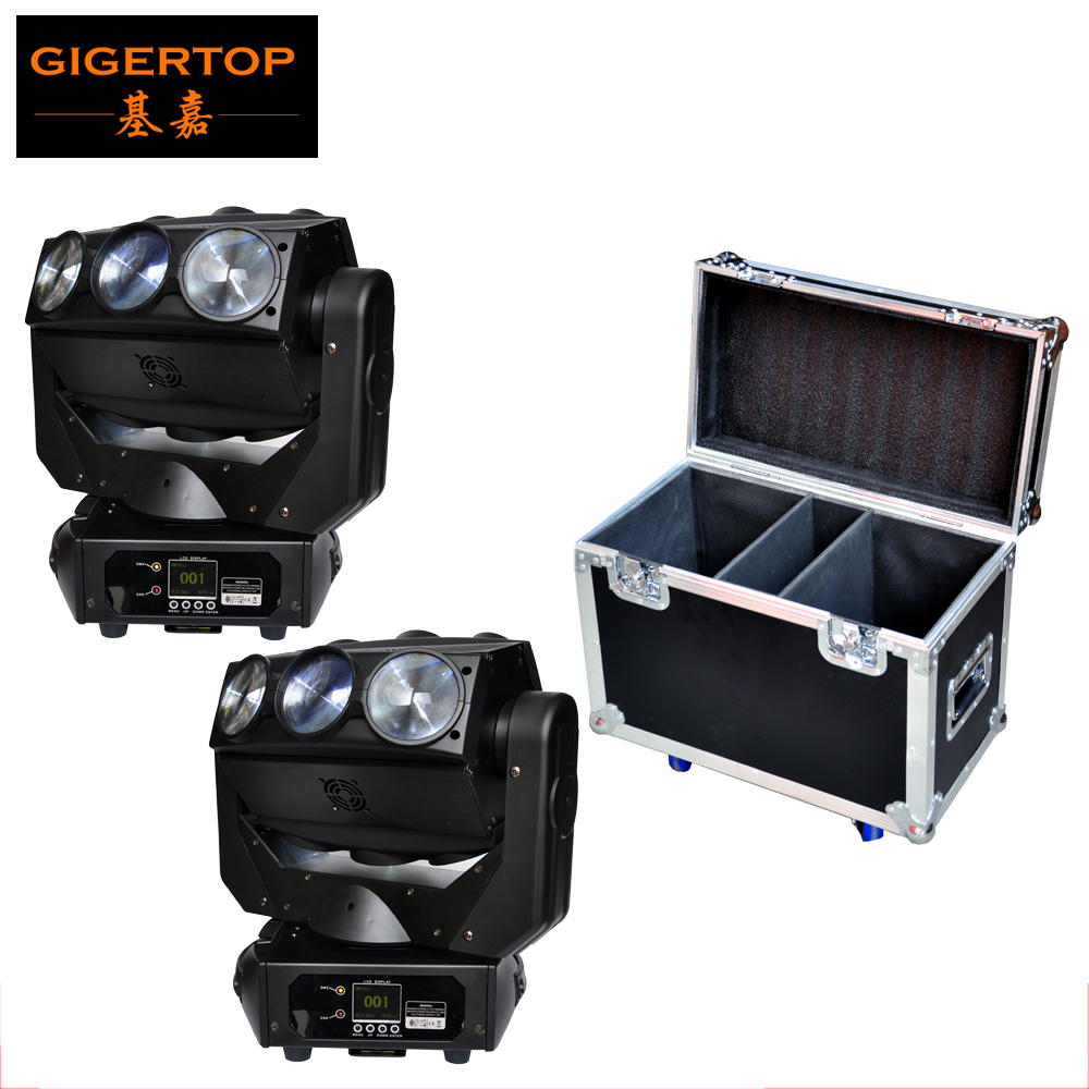 2IN1 Road Case Pack 130W Led Stage Moving Head Beam Light Full Color LCD Display Endless Y Rotation DMX512 DJ Control Equipment freeshipping 2xlot 16 head led moving head spider light endless rotation 16x25 high power rgbw 4in1 beam full color lcd display