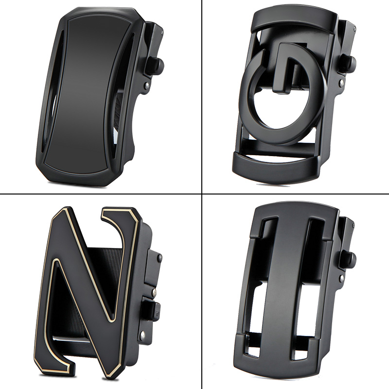 GUIBO Fashion Alloy Solid Buckle Automatic Buckle Ratchet Leather Waistband Belt Accessories Designer Belts Buckle 3.5cm
