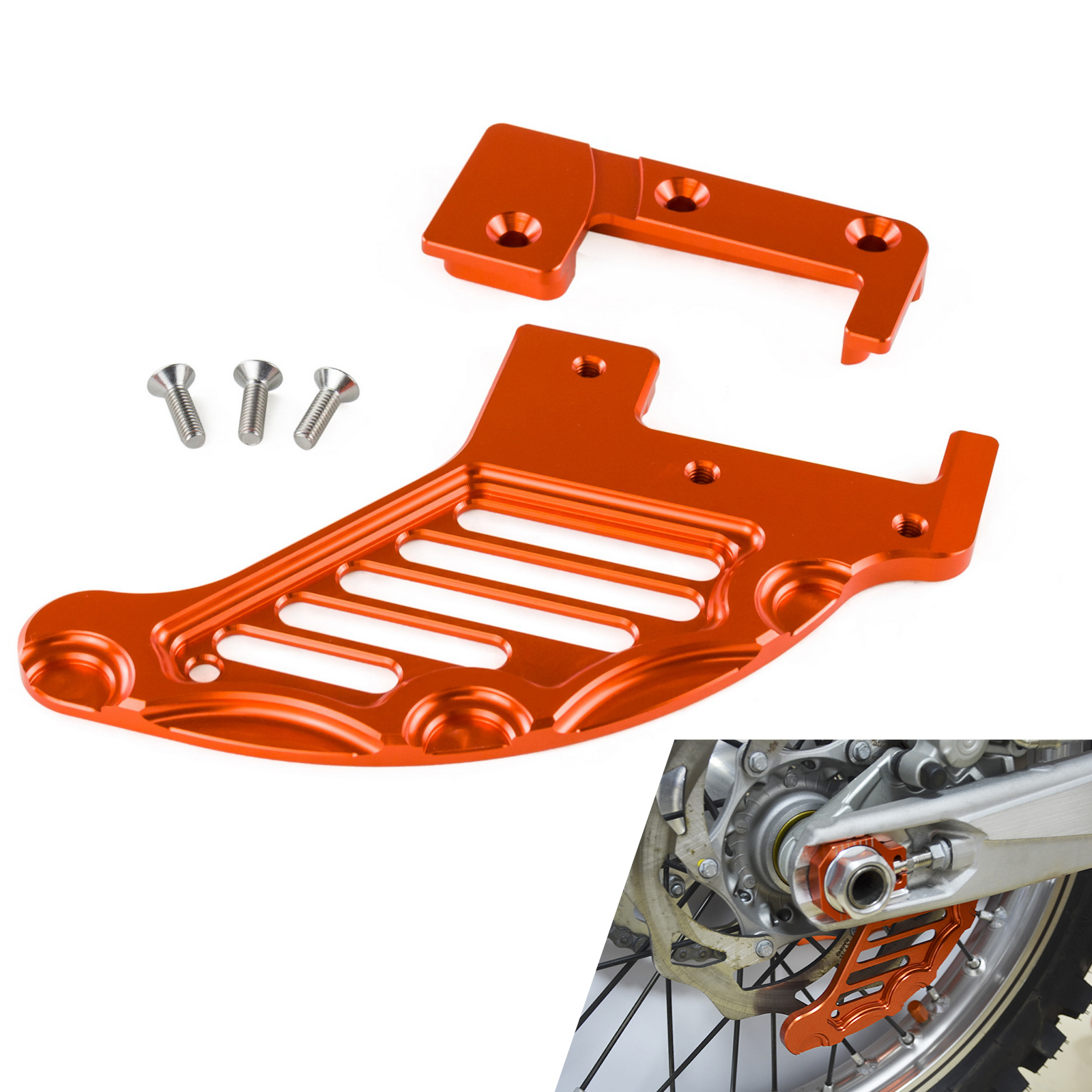 Rear Brake Disc Guard For KTM SX SXF EXC EXCF XC XCF XCW XCFW 125 150 200 250 300 350 400 450 500 505 530 2004-2017 2018 2019 image