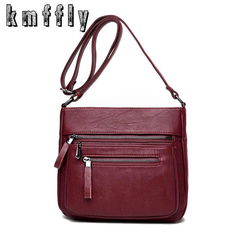 960286018e0d KMFFLY 2018 модные женские туфли сумка из натуральной кожи Элитный бренд  Для женщин Курьерские сумки женские