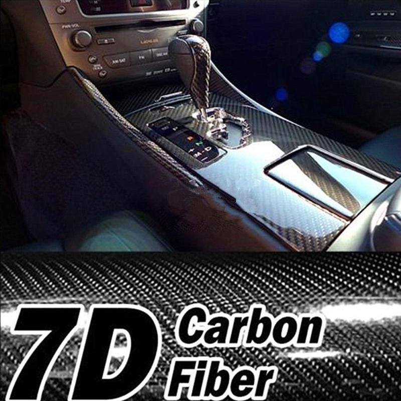 NEW 7D High Glossy Carbon Fiber Vinyl Film Car Styling Wrap Motorcycle Styling Accessories Interior Carbon Fiber Film