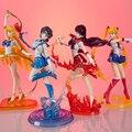 5 Estilo Anime Figuras Sailor Moon Tsukino Usagi Sailor Mars Mercury Júpiter Vênus Saturno PVC Figura Brinquedos