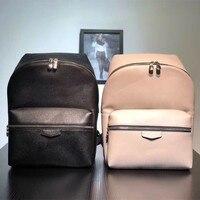 Для мужчин женщин рюкзак пояса из натуральной кожи ПВХ Мужская школьная сумка Zippier рюкзаки Элитный бренд письмо сумки на плечо высокое каче