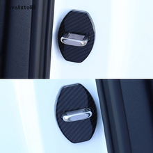 Car Auto Door Lock Cover Case Protective Cover Sticker For Audi A4 B9 2017 2018 Car Styling car auto door lock cover case protective cover sticker for toyota camry 2017 2018 2019 car styling