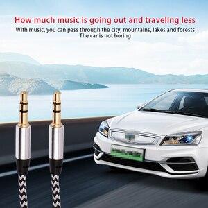 Image 3 - Aux כבל 1M שקע 3.5mm אודיו כבל 3.5mm רמקול כבל זכר לזכר רכב Aux כבל עבור JBL אוזניות iphone Samsung AUX כבל