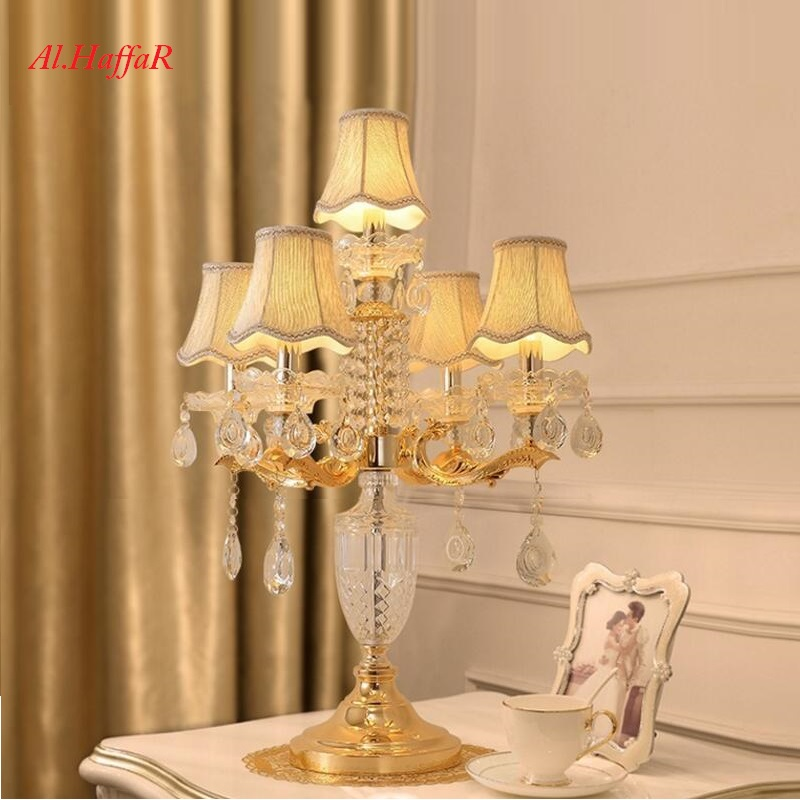 Luxury Fashion Crystal Table Lamp Bedroom Bedside Lamps