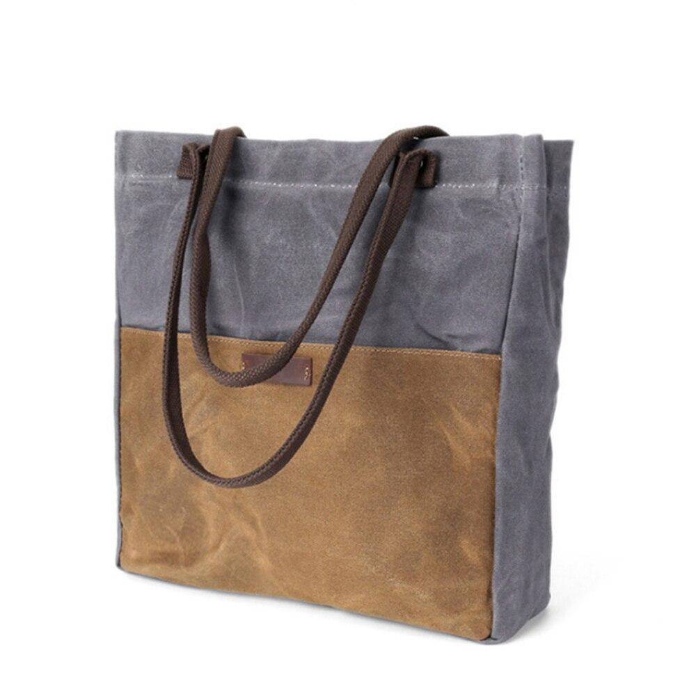 a44eb27b5 Casual bolsos de las mujeres aceite de cera impermeable hombro bolsa de  gran capacidad al aire libre portátil bolso bandolera cuero mochila mens,  ...