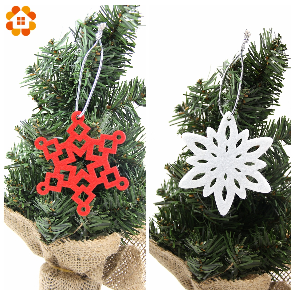 Diy Christmas Ornaments As Gifts.Us 0 92 25 Off 5pcs Diy Christmas Snowflakes Pendant Ornaments White Red Snowflake Ornaments Gifts For Home Decor Christmas Party Decorations In