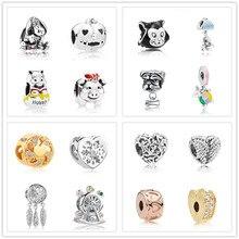 e2e5f1afa 2018 new honey pot pooh eeyore Bead fit Original Pandora charms silver 925  Bracelet trinket jewelry