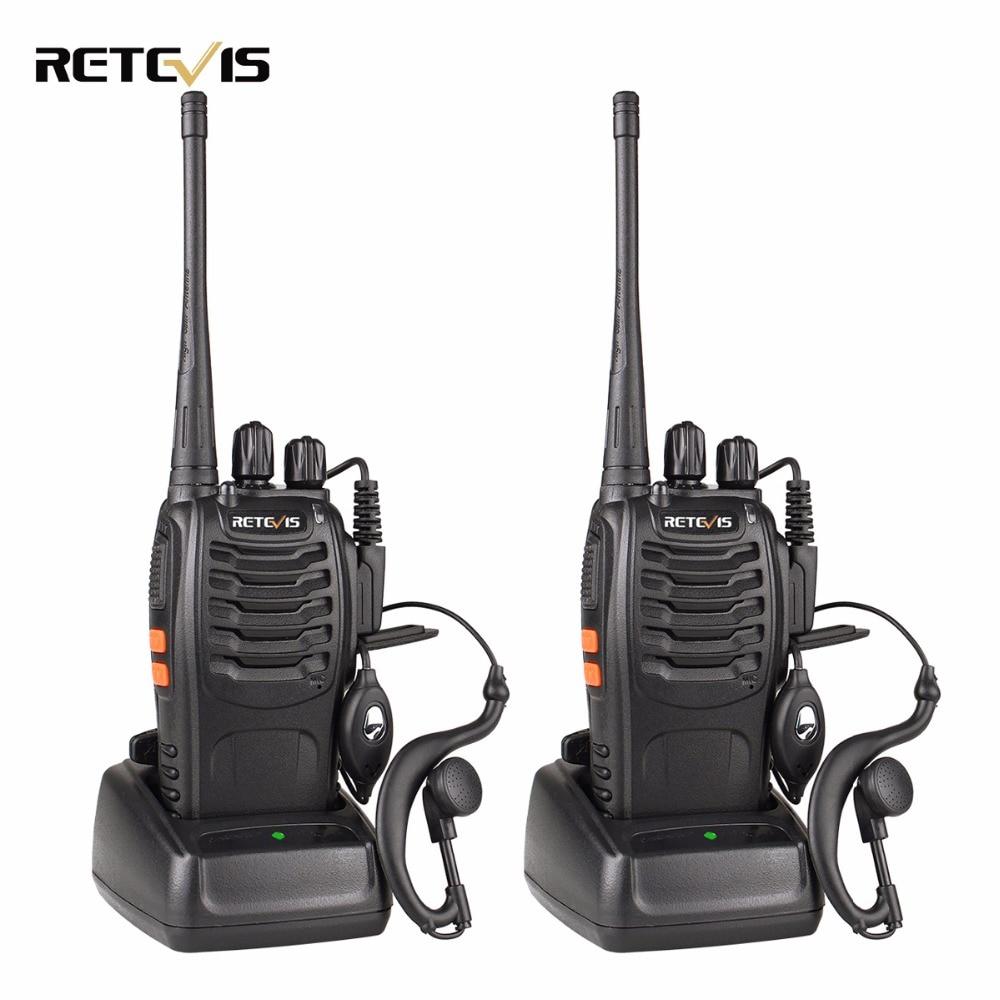 2 pz Retevis H777 Walkie Talkie 3 W UHF 400-470 MHz di Frequenza Radio Portatile Ham Radio Hf ricetrasmettitore A Portata di mano Radio Bidirezionale