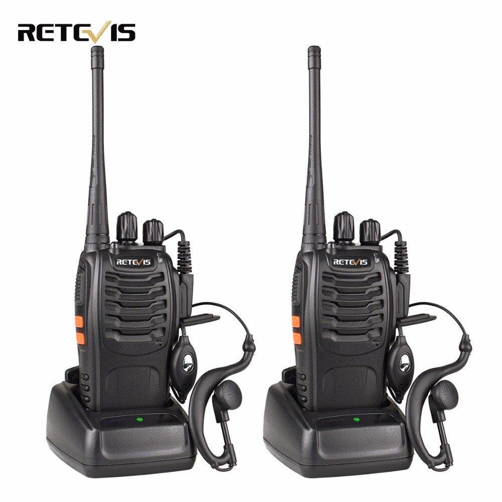 2 unids retevis H777 Walkie-talkies 3 W UHF 400-470 MHz frecuencia portátil Radios conjunto jamón Radios HF transceptor dos vías práctica Radios