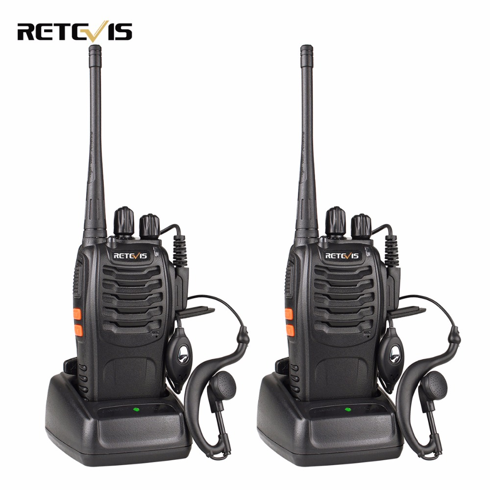 1 Paar Draagbare Radio Retevis H777 Walkie Talkie 5 W 16CH UHF - Walkie-talkies