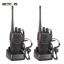 1 Pair Portable Radio Retevis H777 Walkie Talkie 5W 16CH UHF 400-470MHz Dua Arah Radio Communicator Interphone Moscow Local Ship