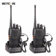 2 шт. Retevis H777 Портативная рация 3 Вт UHF 400-470 мГц частота Портативный Радио комплект ham Радио КВ трансивер удобный двухстороннее Радио