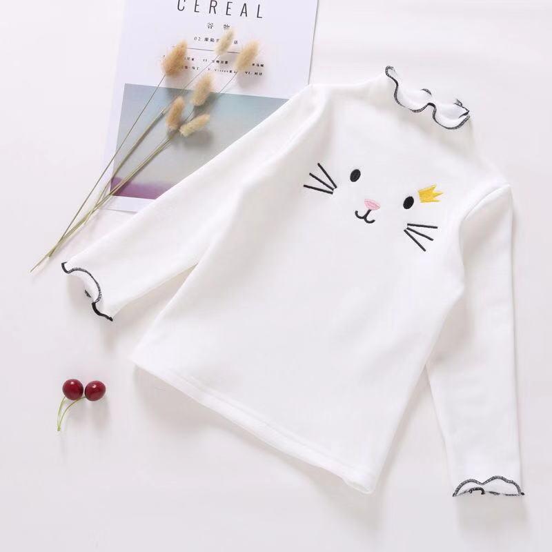 PPXX Baby Girl Sweater Cardigan Kids Sweatershirts Children Clothing Winter Autumn Sweater Tshirt Long Cartoon Cat Sweatershirt 3