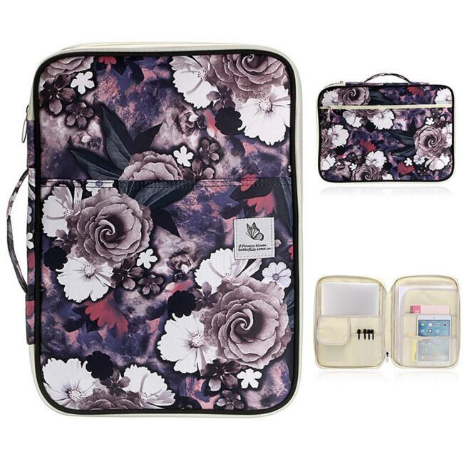 Canva Multi-functional Waterproof A4 Document Bags Filing Products Notebooks Pens Computer Portable Storage Bag For Men Women