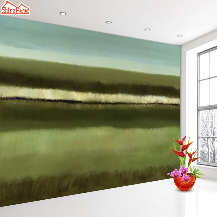 ShineHome-Country Field Twilight Dusk Oil Painting Style 3d Photo Wallpaper for Walls 3 d  Living Room Wallpapers Mural Roll custom wallpaper for walls 3 d photo wall mural pastoral country road tv walls 3d nature wallpapers for living room