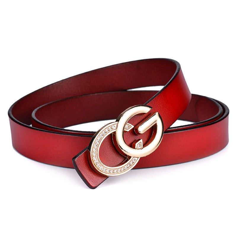 1fd1088b6 ... Luxury Design Stylish CG Belts For Women Lady Genuine Leather Fashion  Brand G Belt Diamond Alloy ...