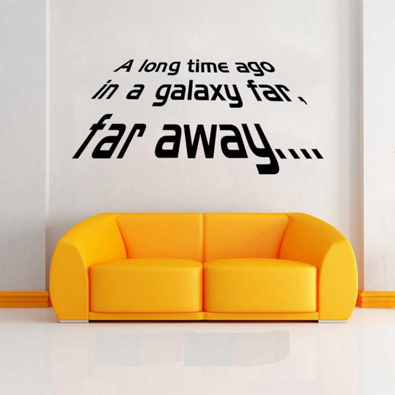A long Time Ago Quote Star Wars Vinyl Art Wall Sticker Decals Home Decor 1PC