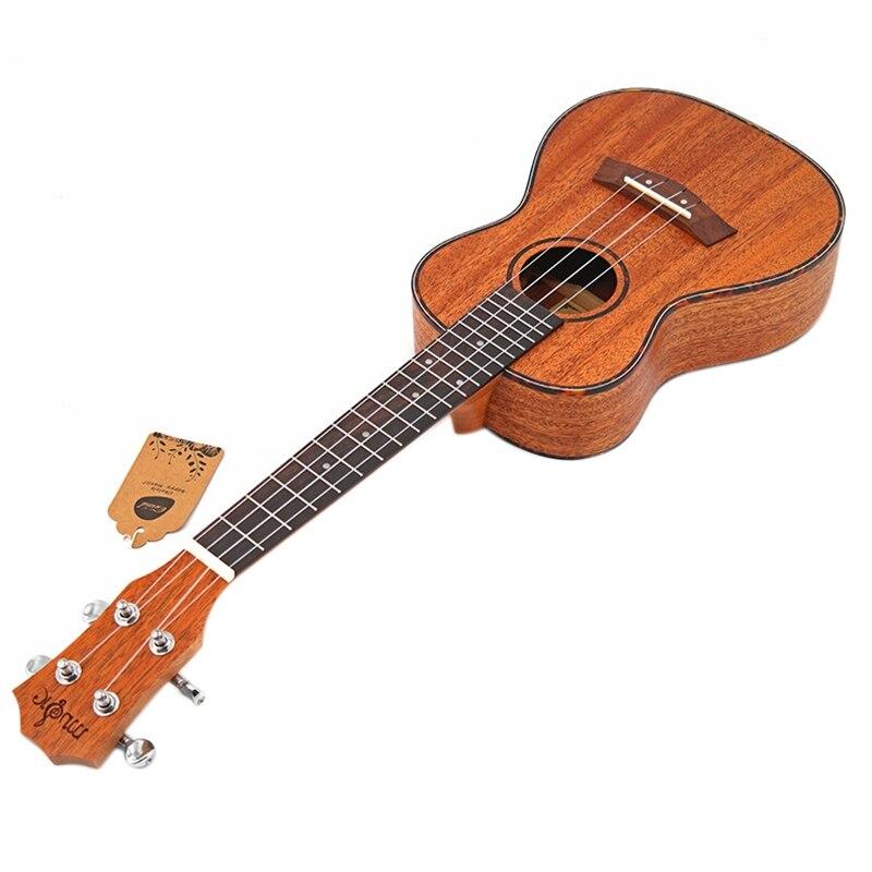 Kits de Concert ukulélé 23 pouces acajou Uku 4 cordes guitare avec sac accordeur Capo sangle pique pics pour débutant instrument Musical - 3