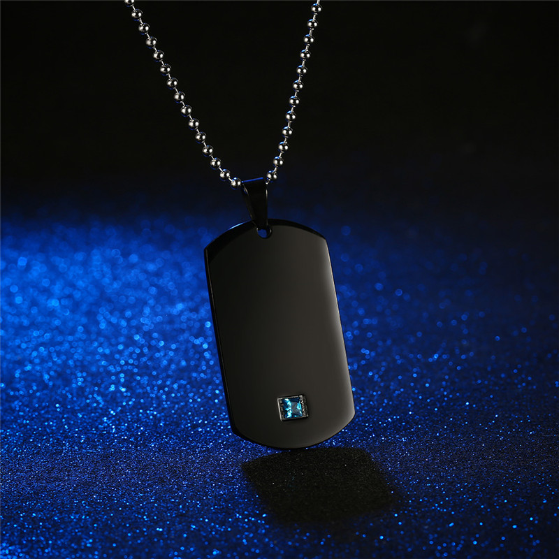 b2a46c0496 GAGAFFEL Laser Engrave Custom Name Dog Tags Military Army Cards Couple  Necklace Jewelry Black Stainless Steel Pendant Necklaces -in Pendant  Necklaces from ...