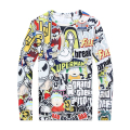 Sweatshirt men 2015 Skateboard Cartoon Sweatshirt 20 Style chandal hombre  Pullover Hoodies Men Women Long-sleeve Tide Men