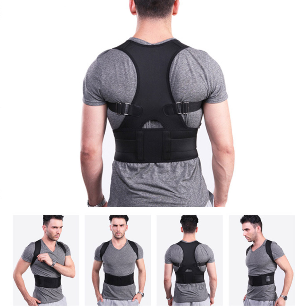 Back Belt Lumbar Support Straight Corrector Adjustable Magnetic Posture Corrector Male Female Corset Back Brace