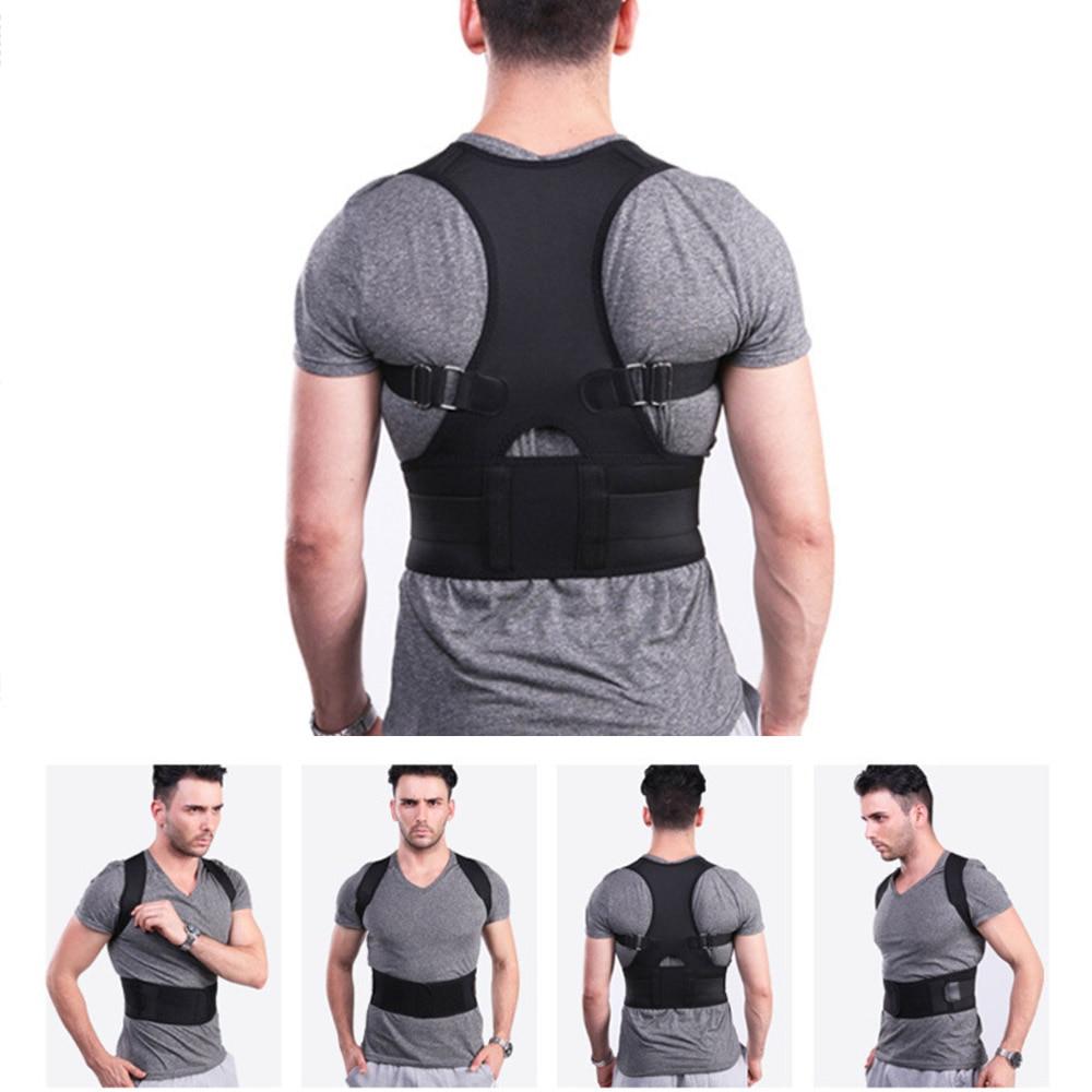Back Belt Lumbar Support Straight Corrector Adjustable Magnetic Posture Corrector Male Female Corset Back Brace
