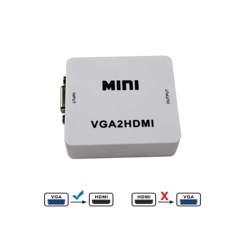 1 ピース VGA オーディオと hdmi のコンバーターへ 1080 用プロジェクター PC Hdtv 用の usb ケーブルで電源