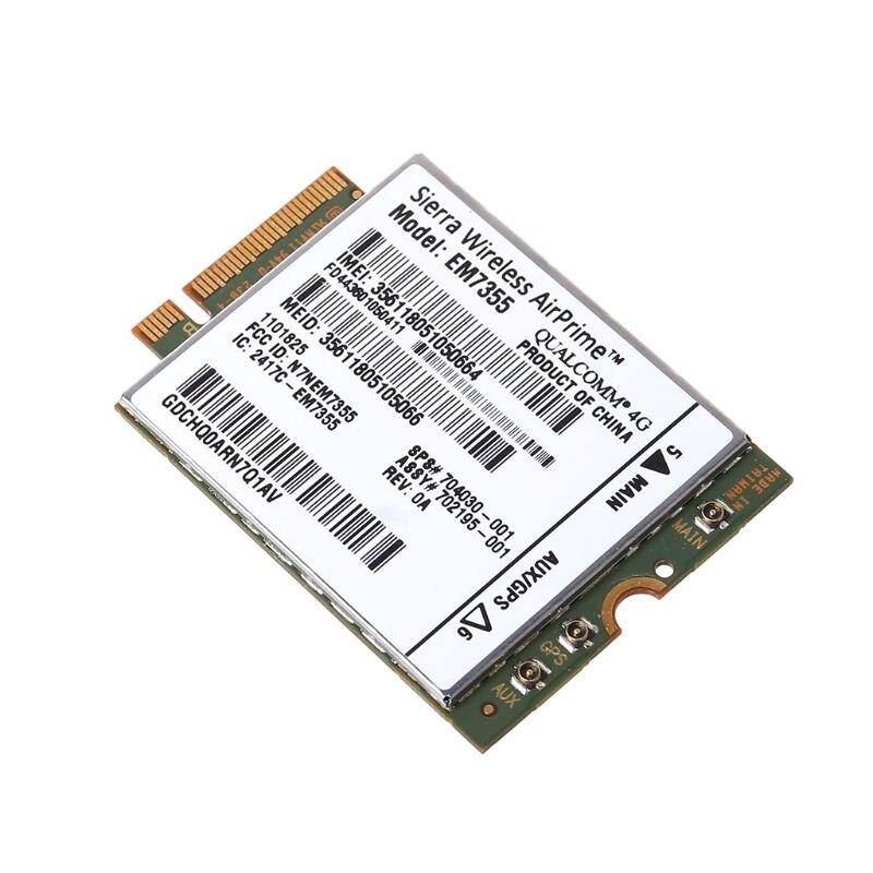 WWAN Card Wireless WIFI Sierra For HP LT4111 EM7355 Gobi5000 4G LTE Modual NGFF M.2 HSPA WCDMA
