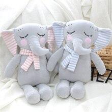 Raksasa Besar Mewah Lembut Gajah Boneka Mainan Boneka Hidung Panjang Biru  Gajah dengan Bayi Anak-anak Tidur Bantal Hadiah Natal 2d9c0abf10