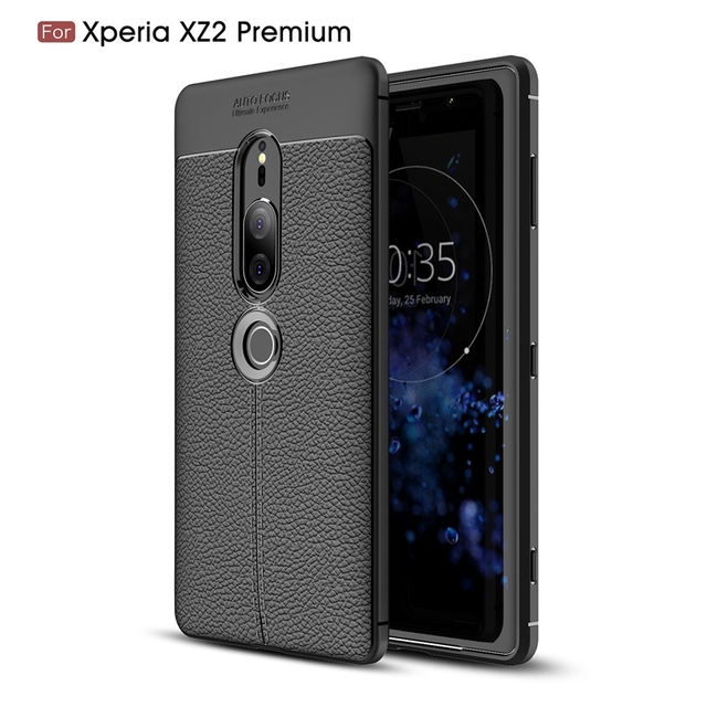 the latest 4c561 1faf0 US $3.09 38% OFF|For Sony Xperia XZ2 Premium Case Phone Back Protective  Smartphone Soft Litchi striae Shockproof Case Cover For Sony XZ2Premium-in  ...