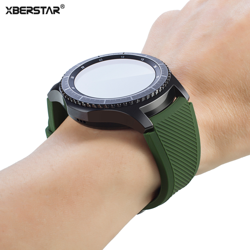 watchband for samsung galaxy gear s3 sports silicone strap. Black Bedroom Furniture Sets. Home Design Ideas