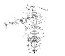Frete grátis peças para Yamaha F4MSH hidea HD5F F4-01.01.00.00 Recoil Starter Conj
