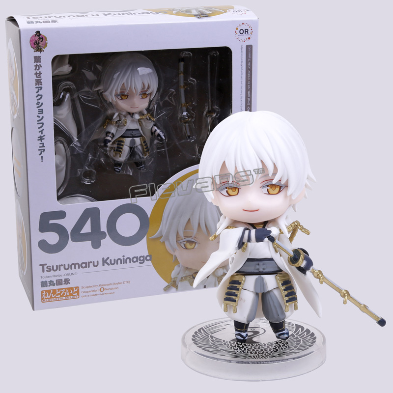 Cute Nendoroid Touken Ranbu Online Tsurumaru Kuninaga #540 PVC Acton Figure Model Collection Toy 4 10cm потолочный светильник mantra bali 0812