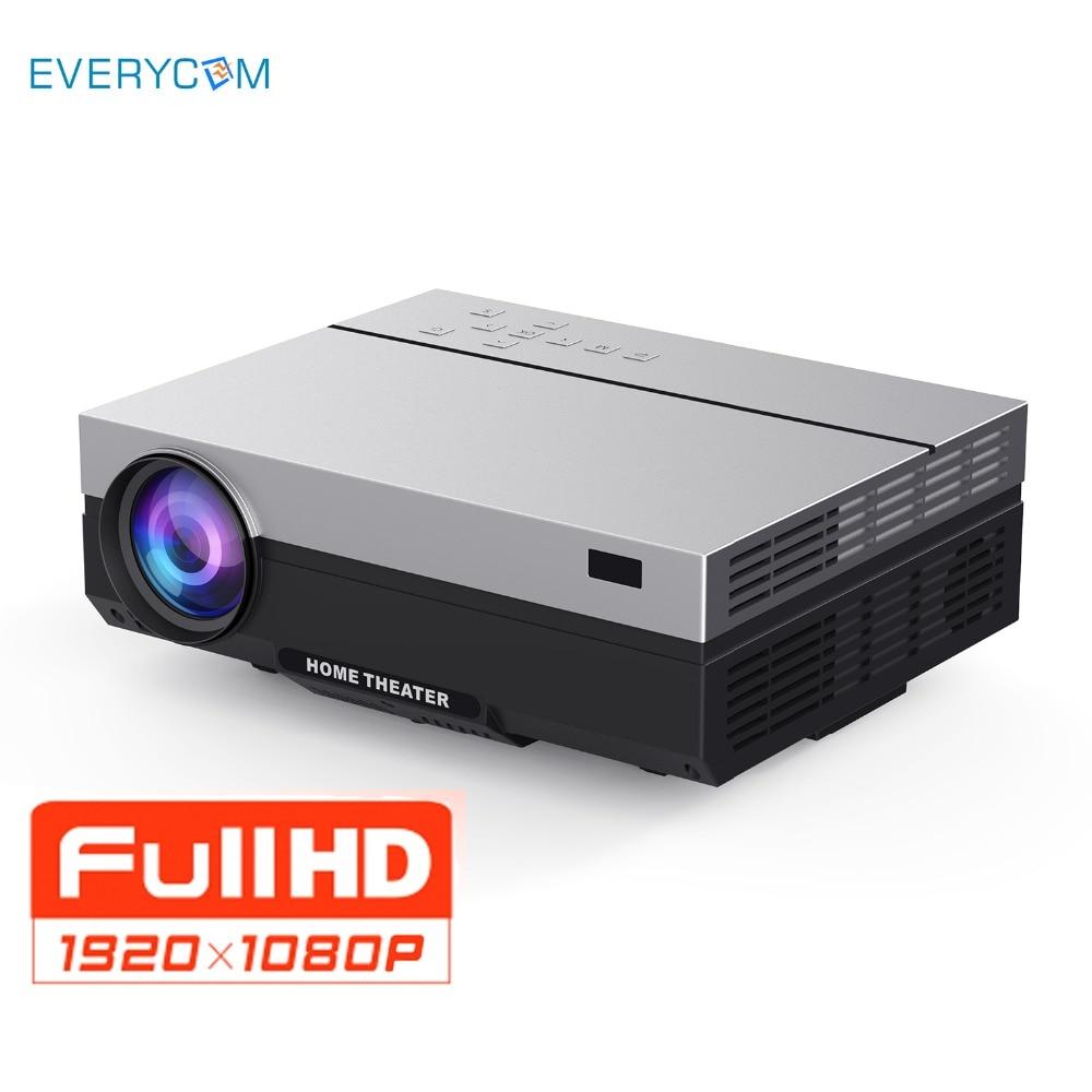 Everycom Full HD Projecteur 1920x1080 P T26K Film Projecteur Portable 4000 Lumens HDMI Beamer Vidéo Proyector led Maison théâtre Film