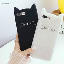 Silicone Cute 3D Bearded Cat Cases for Huawei Nova 2i Mate 10 Lite Case Cute Animal for Y5 Y6 2017 Enjoy 7s Soft Glitter Cover