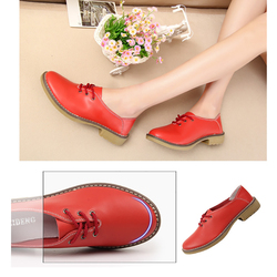 2019 New Handmade Women Flats Genuine Leather Oxfords Shoes Woman Fashion Ballets Flats Casual Moccasins For Women Sapatos Mujer 6