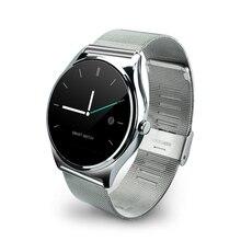 I02 Smart Schlank Dünne Metall Runde Smartwatch Telefon Rate Sync Anruf Push-nachricht Relogio für iPhone IOS Samsung Android