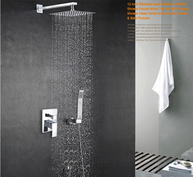 Becola 12 Zoll Neue Dusche Set Druck Sprinkler Anzug Dusche Platz