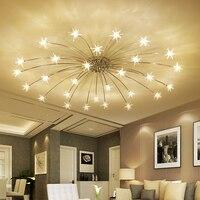 wongshi Modern 21/28Heads Sky Star Glass Iron Pendant Lamp Night Sky Firefly Simplified Cafe leisure clothing store Lamp