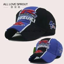 2016 SUZUKI Racing Cap Men Baseball Caps Gp Motorcycle Race Cap Embroidery Sun Visor Black Blue Color Wholesale factory direct