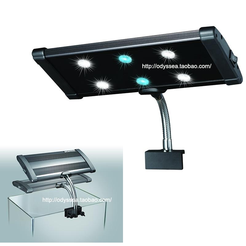 해양 생선 산호 시클리드 또는 식물 수족관 수생 애완 동물 나노 브라이트 6x 3 와트 LED 클램프 3W 라이트 램프 조명기구
