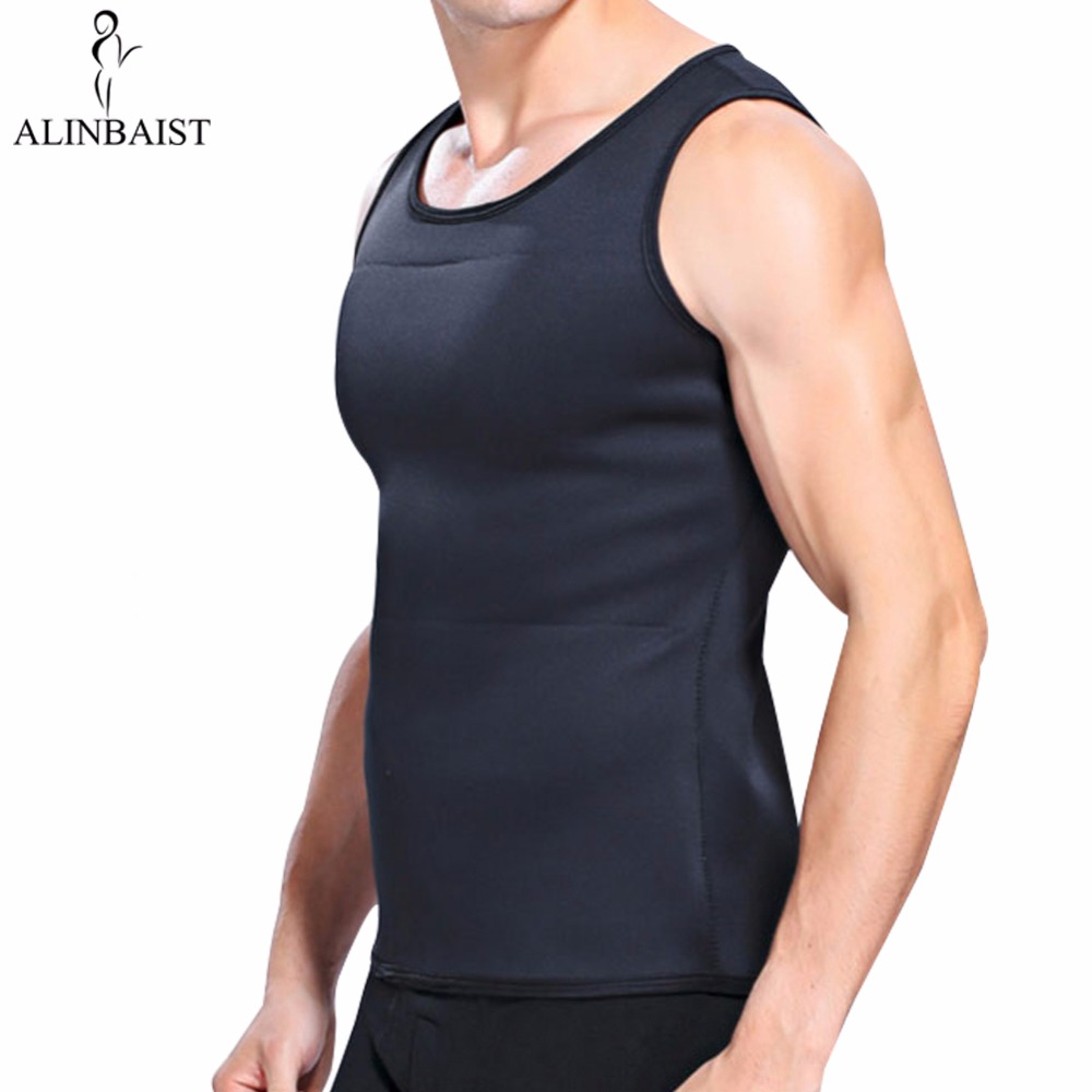 Men's <font><b>Neoprene</b></font> Slimming Vest Body Shapers <font><b>T</b></font> <font><b>Shirt</b></font> Sauna Sweat Thermal Waist Trainer Tank Top Weight Loss Belt Tummy Tuck image