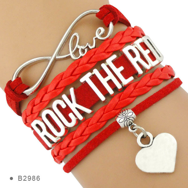 What Do Asthma Heart Disease And Cancer >> Us 1 6 Rock The Red Eating Disorder Arthritis Ovarian Lung Kidney Cancer Scleroderma Heart Disease Attack Asthma Spina Bifida Bracelets In Charm