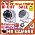 Venda Mini Vigilância 1/3 cmos 800/ahdl 1200TVL Segurança LED Infravermelho 30 m Cor Câmera de CCTV Ao Ar Livre Home Video Visão HD Noite