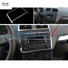 1 шт., автомобильные наклейки из нержавеющей стали, центральная консоль, приборная панель, украшение, блестки для 2011- Volkswagen VW POLO
